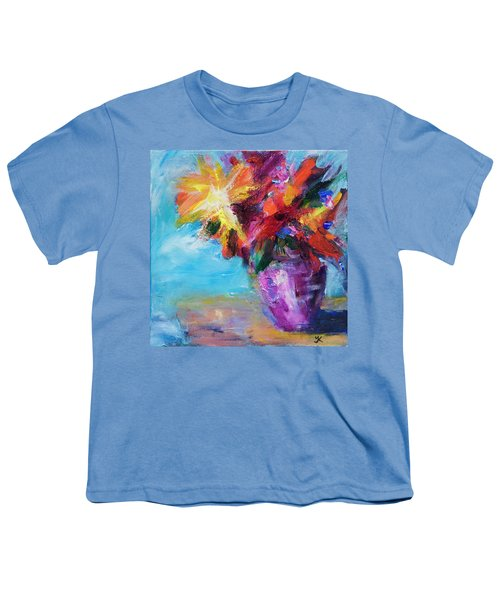 Colorful Flowers  Youth T-Shirt