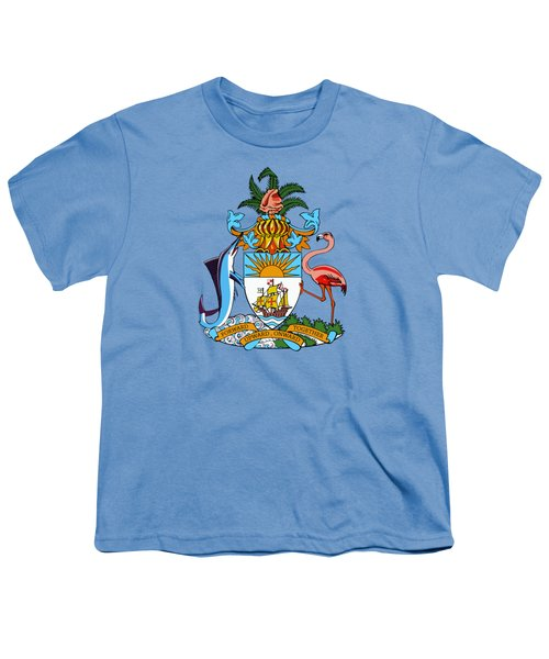 Bahamas Coat Of Arms Youth T-Shirt by Movie Poster Prints