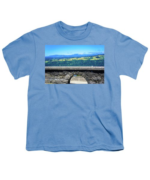 Beautiful Landscape From Vista House Youth T-Shirt