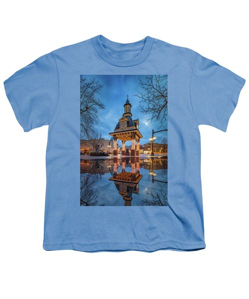 Bell Tower  In Beaver  Youth T-Shirt by Emmanuel Panagiotakis