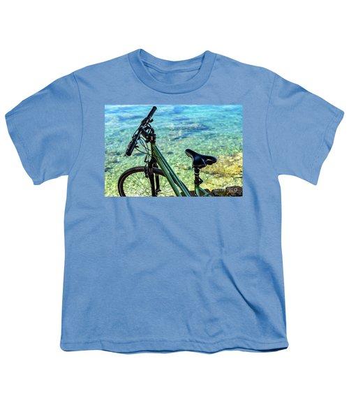 Bicycle By The Adriatic, Rovinj, Istria, Croatia Youth T-Shirt