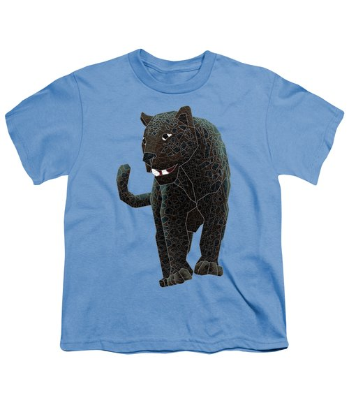 Black Panther Youth T-Shirt by Dusty Conley