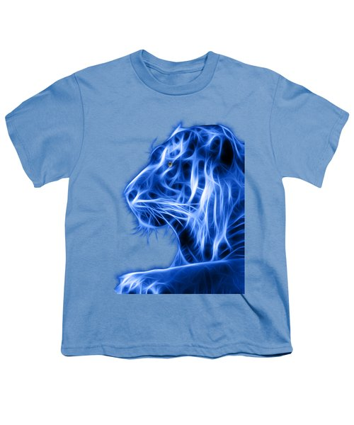 Blue Tiger Youth T-Shirt by Shane Bechler