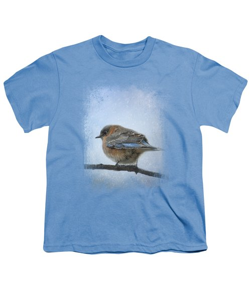 Bluebird In The Snow Youth T-Shirt by Jai Johnson