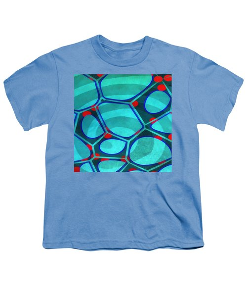 Cell Abstract 6a Youth T-Shirt by Edward Fielding