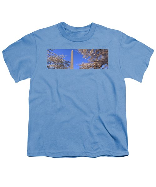 Cherry Blossoms And Washington Youth T-Shirt by Panoramic Images