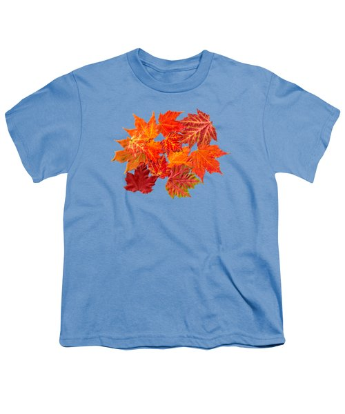 Colorful Maple Leaves Youth T-Shirt