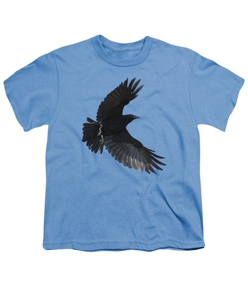 Crow In Flight Youth T-Shirt