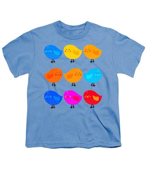 Cute Little Birdies Tee Youth T-Shirt by Edward Fielding