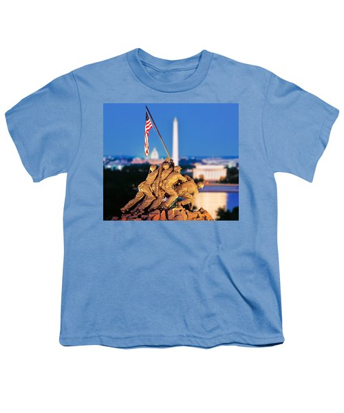 Digital Composite, Iwo Jima Memorial Youth T-Shirt by Panoramic Images