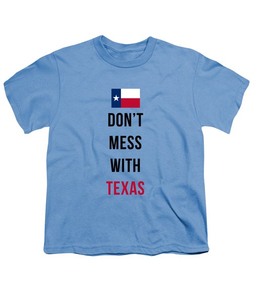 Don't Mess With Texas Tee Blue Youth T-Shirt