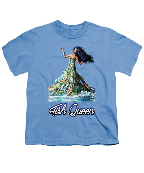 Fish Queen Youth T-Shirt by Anthony Mwangi
