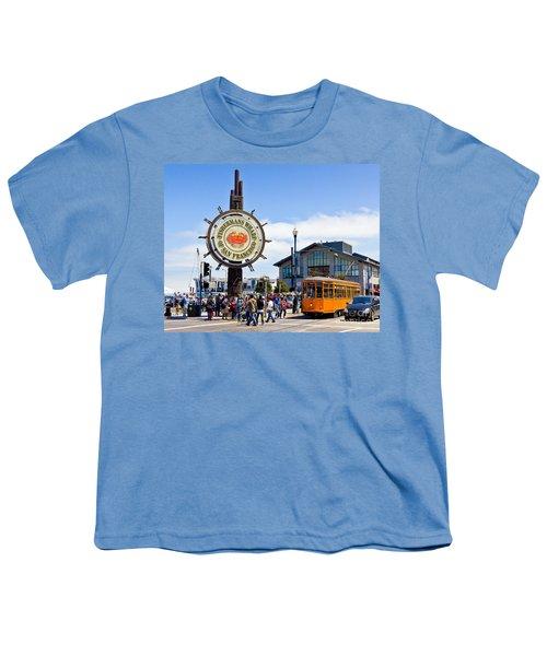 Fishermans Wharf - San Francisco Youth T-Shirt