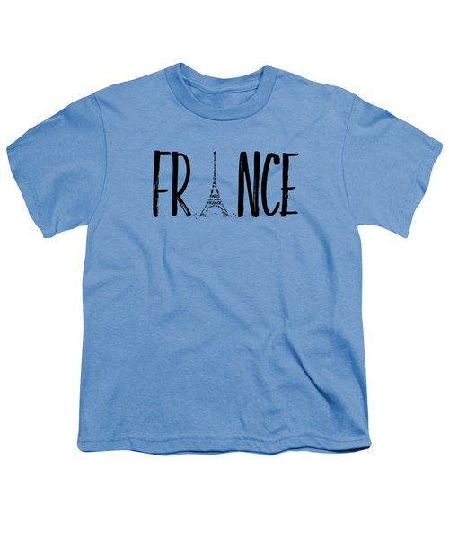 France Typography Panoramic Youth T-Shirt