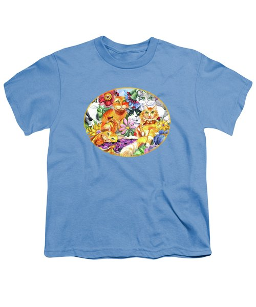 Garden Party Youth T-Shirt by Shelley Wallace Ylst