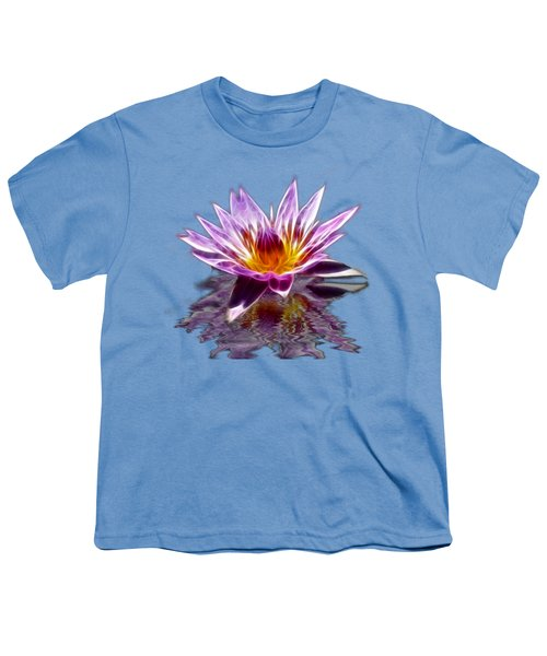 Glowing Lilly Flower Youth T-Shirt by Shane Bechler
