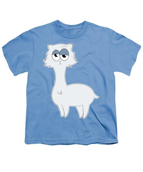 Grumpy Persian Cat Llama Youth T-Shirt by Catifornia Shop