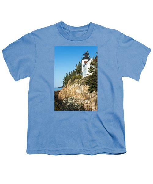 Youth T-Shirt featuring the photograph Head Lighthouse by Anthony Baatz