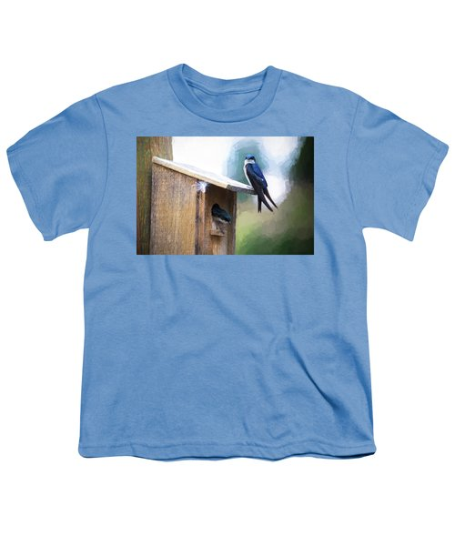 Youth T-Shirt featuring the photograph House Of Bluebirds by James BO Insogna
