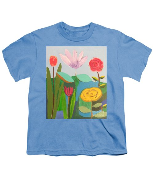 Imagined Flowers One Youth T-Shirt by Rod Ismay