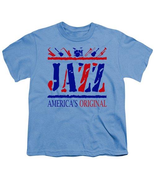 Jazz Americas Original Youth T-Shirt by David G Paul