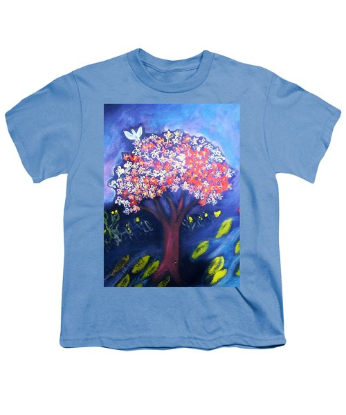 Youth T-Shirt featuring the painting Joy by Winsome Gunning