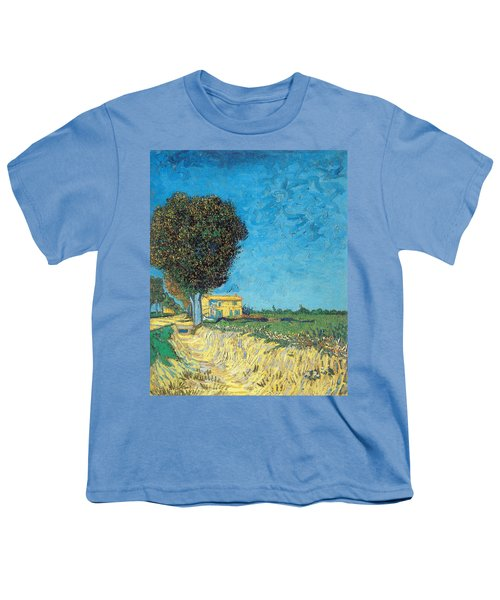 Youth T-Shirt featuring the painting Lane Near Arles by Van Gogh