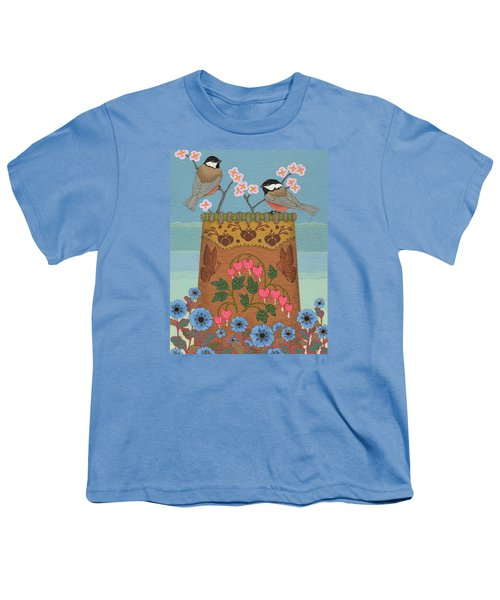 Youth T-Shirt featuring the painting Little Bird by Chholing Taha