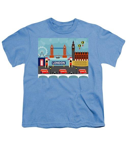 London England Horizontal Scene - Collage Youth T-Shirt