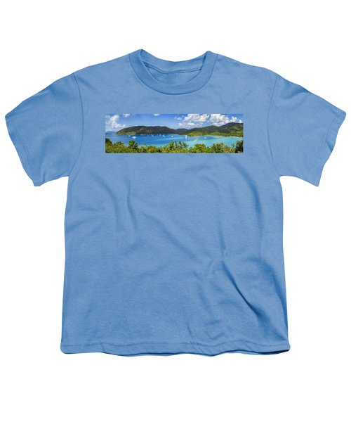 Youth T-Shirt featuring the photograph Maho And Francis Bays On St. John, Usvi by Adam Romanowicz
