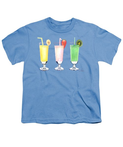 Milkshake In Style Youth T-Shirt by Sonja Taljaard