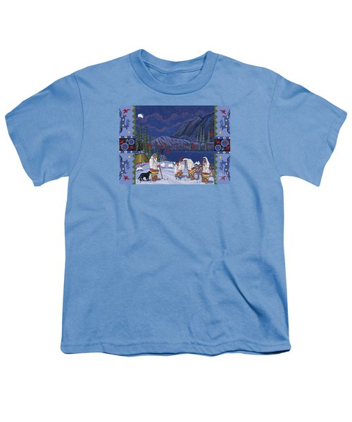 Youth T-Shirt featuring the painting Moon When The Rivers Dream by Chholing Taha