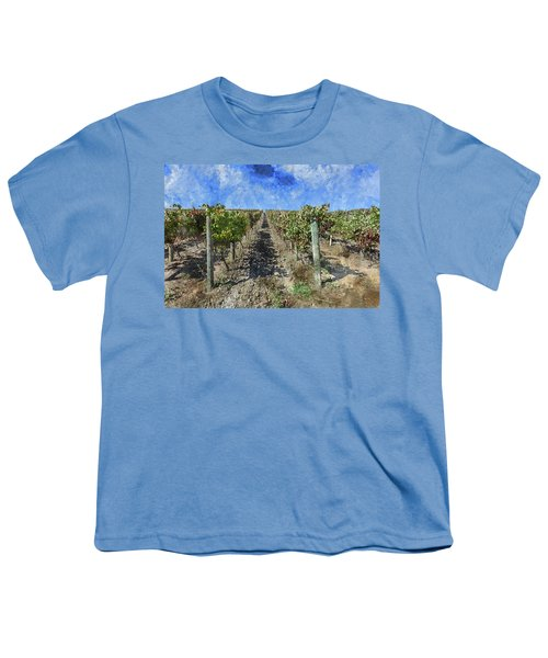 Napa Valley Vineyard - Rows Of Grapes Youth T-Shirt