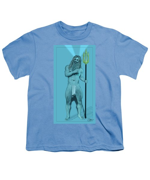 Blue Neptune Youth T-Shirt by Quim Abella
