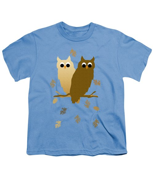 Owls Pattern Art Youth T-Shirt by Christina Rollo