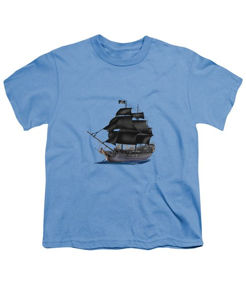 Pirate Ship At Sunset Youth T-Shirt by Glenn Holbrook