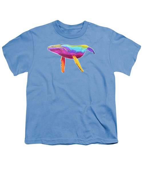 Rainbow Whale Youth T-Shirt