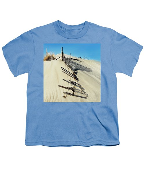 Sand Dune Fences And Shadows Youth T-Shirt