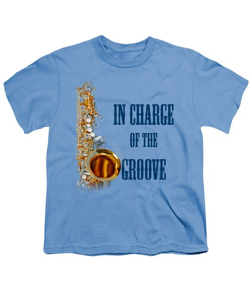 Saxophones In Charge Of The Groove 5532.02 Youth T-Shirt by M K  Miller