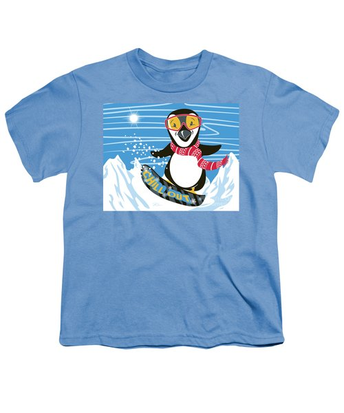 Snowboarding Penguin Youth T-Shirt