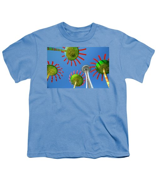 Youth T-Shirt featuring the photograph Sonic Bloom In Seattle Center by Adam Romanowicz