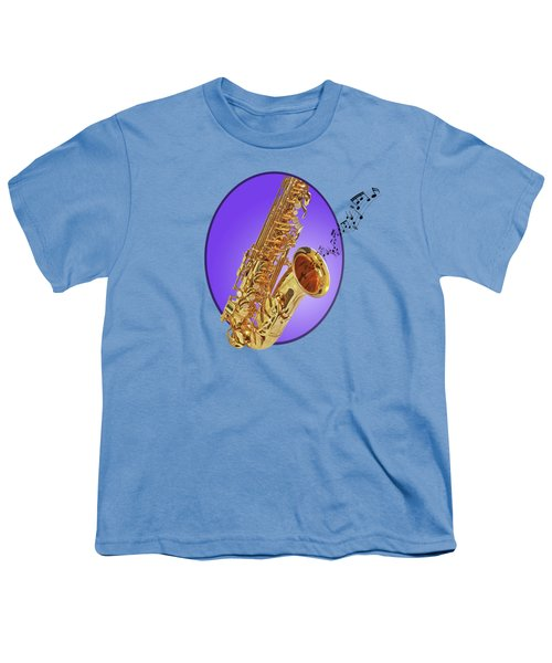 Sounds Of The Sax In Purple Youth T-Shirt
