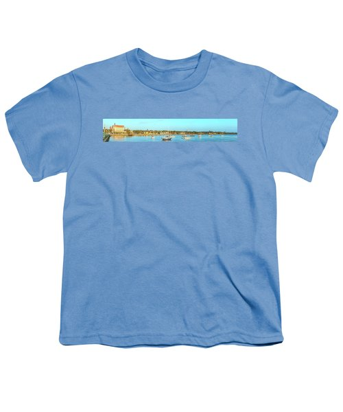 Youth T-Shirt featuring the photograph St Augustine Panorama by Sebastian Musial