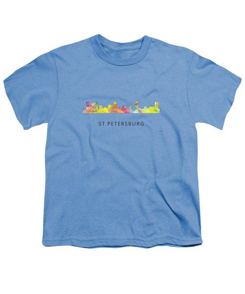 St Petersburg Florida Skyline Youth T-Shirt by Marlene Watson