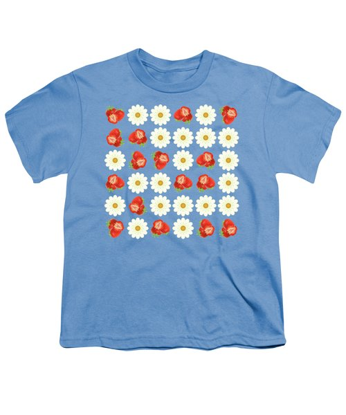 Strawberries And Daisies Youth T-Shirt