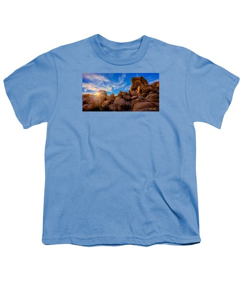 Youth T-Shirt featuring the photograph Sunrise At Skull Rock by Rikk Flohr