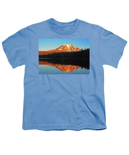 Sunset And Sunrise Mt Adams Youth T-Shirt