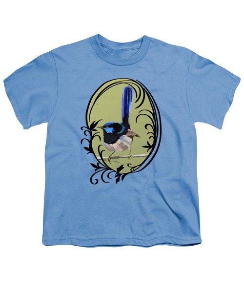 Superb Blue Wren Australian Bird Youth T-Shirt