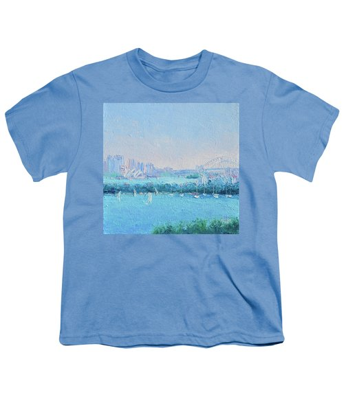 Sydney Harbour And The Opera House Youth T-Shirt by Jan Matson