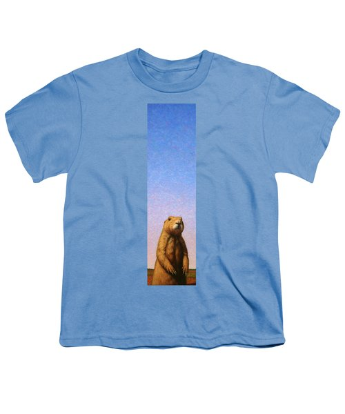 Tall Prairie Dog Youth T-Shirt by James W Johnson